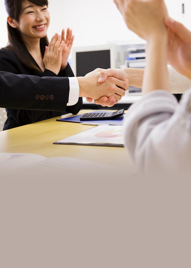 経験豊富なコンサルタントがサポートするから内定を獲得できる